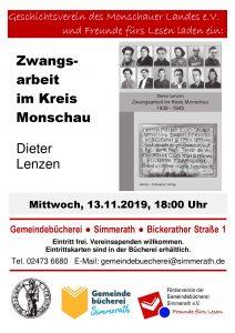 Vortrag: Zwangsarbeit im Kreis Monschau mit Dieter Lenzen