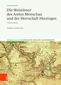 Buchvorstellung »Die Weistümer des Amtes Monschau und der Herrschaft Hetzingen«