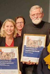 Anerkennungsurkunde der Sammlung Crous für Dr. Dieter Lenzen